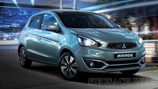 Xe ô tô tiết kiệm xăng nhất hiện nay Mitsubishi Mirage