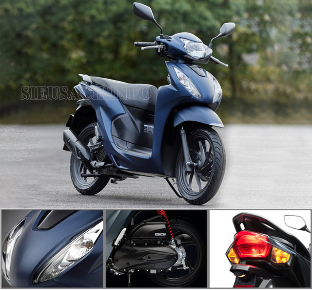 Honda Vision 2021 với nhiều cải tiến về thiết kế và khả năng tiết kiệm xăng