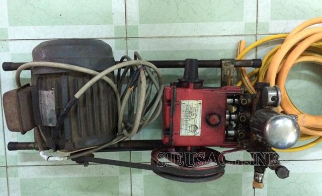 Máy rửa xe dây đai cũ có nhiều hạn chế