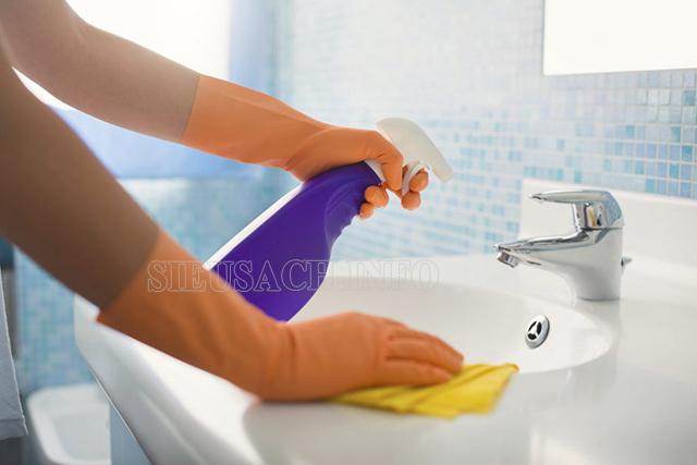 Hướng dẫn vệ sinh bồn rửa mặt