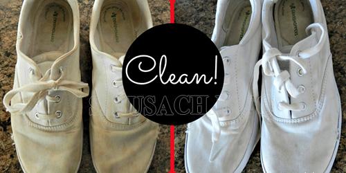 làm sạch giày vải