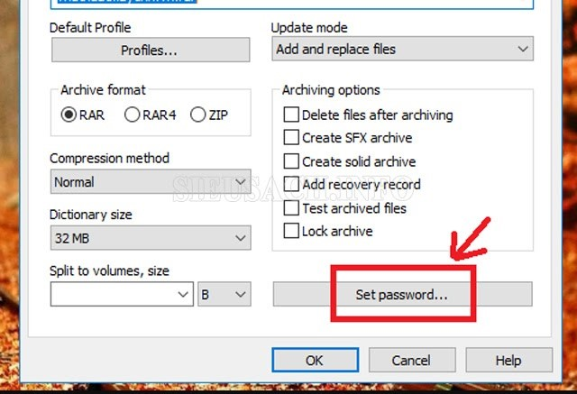 Tạo mật khẩu cho file, folder