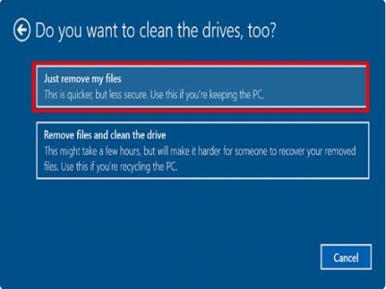 Cách khôi phục lại máy tính nhanh chóng