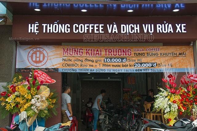 Sự kết hợp giữa tiệm rửa xe và quán cà phê