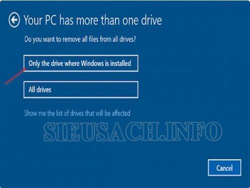 Trên giao diện màn hình hai tùy chọn sẽ xuất hiện