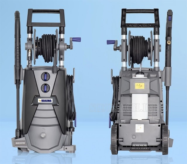 Mặt trước và sau của máy xịt rửa Hakawa HK-2200W