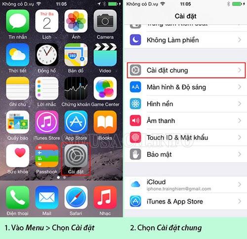 Tiến hành ẩn các ứng dụng mặc định trên Iphone
