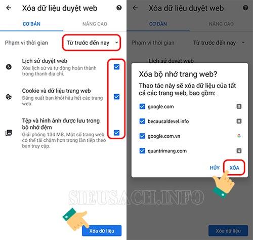 Tăng tốc Google Chrome bằng cách xóa các dữ liệu trình duyệt cũ