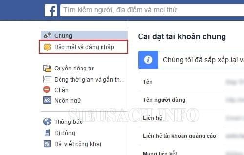Cách thay mật khẩu facebook