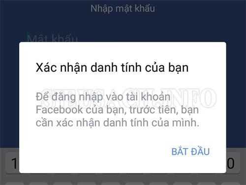 Link mở khóa Facebook xác minh danh tính