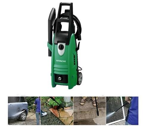 Máy rửa xe mini Hitachi được dùng để làm sạch nhiều bề mặt khác nhau