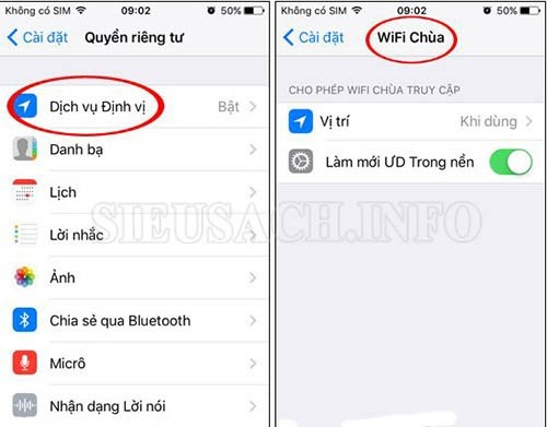 Wifi chùa cho iphone có khắp mọi nơi xung quanh bạn