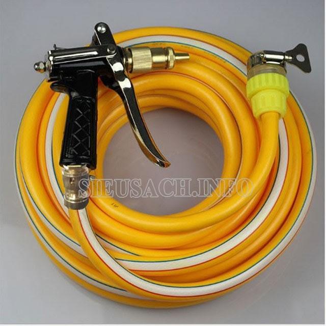 Bạn có thể trang bị thêm dây và bộ tăng áp lực nước cho máy để đạt hiệu quả tốt hơn