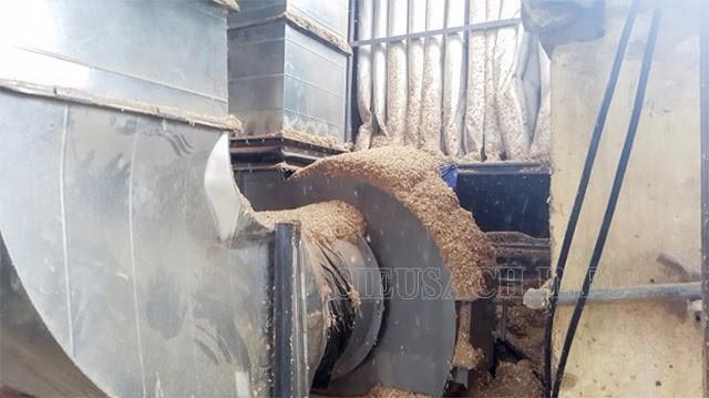 Bụi gỗ bám vào các thiết bị làm nóng và cản trở hoạt động