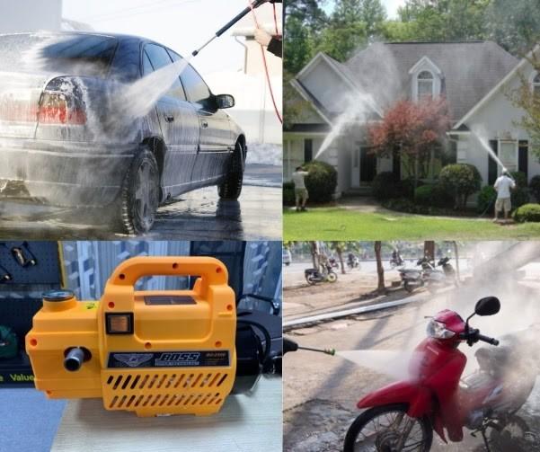 Cách sử dụng máy bơm rửa xe mini