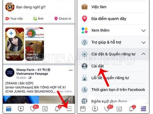 Cách tắt sinh nhật trên Facebook bằng điện thoại