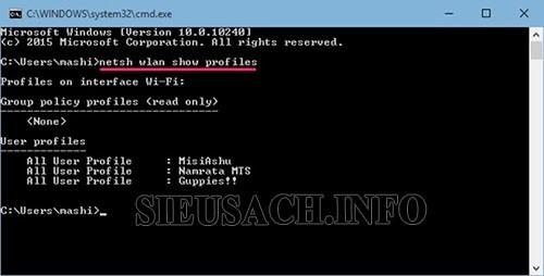 Hãy áp dụng thử cách xem password wifi trên laptop