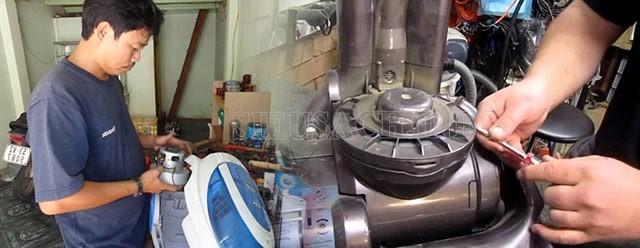 Kiểm tra motor và cầu chì của máy