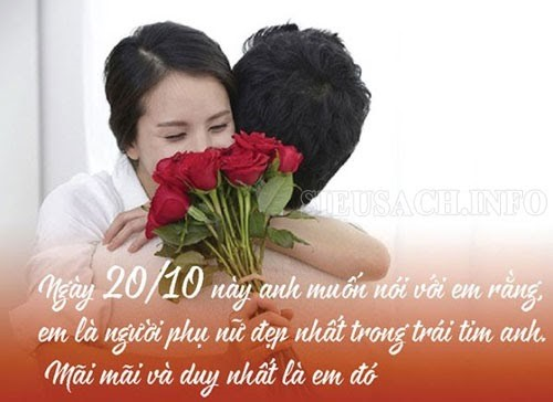 Lời chúc ngày 20/10 cho vợ
