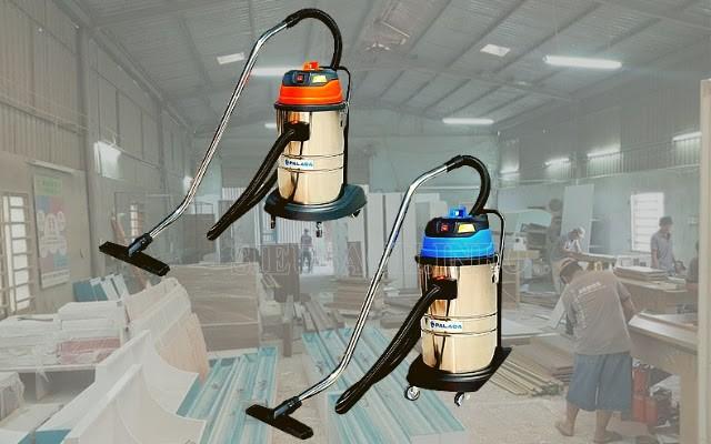 Máy hút bụi công nghiệp được sử dụng trong các xưởng gỗ nhỏ, vừa
