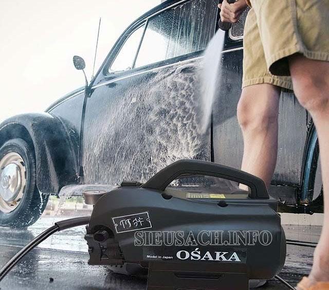 Máy xịt rửa xe Nhật Bản Osaka cho hiệu quả vệ sinh vượt trội