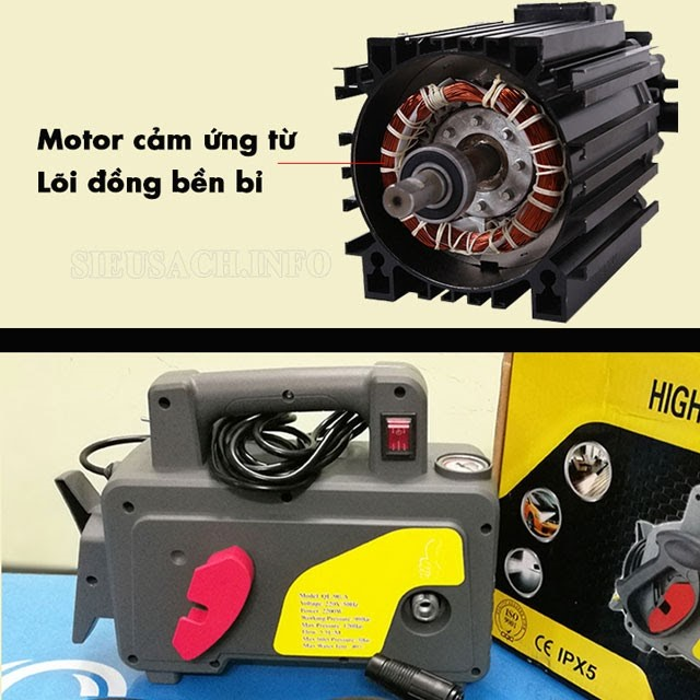 Model được trang bị động cơ cảm ứng từ cao cấp