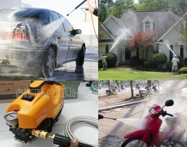Những ứng dụng nổi bật của máy bơm rửa xe Osaka