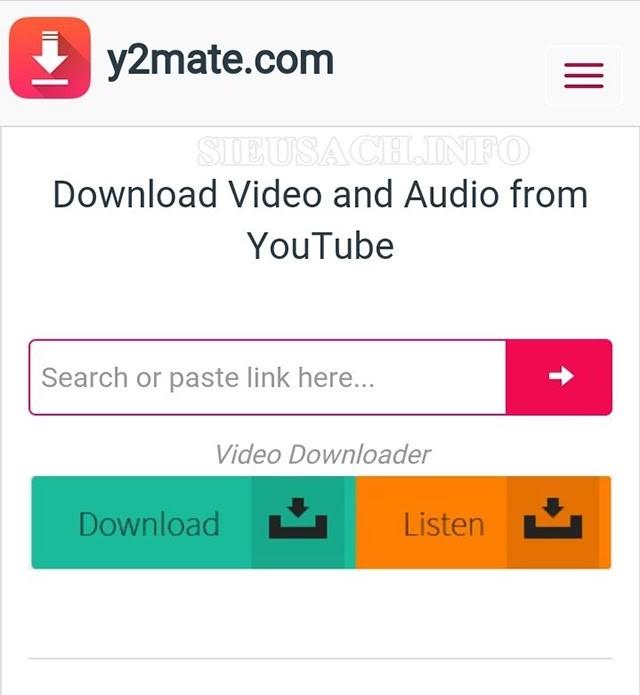 Sử dụng Y2mate để lấy âm thanh từ video youtube