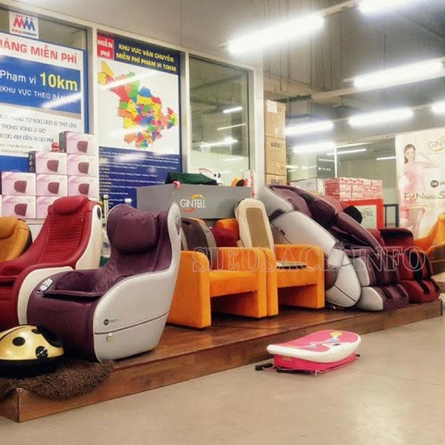 Ghế mát xa toàn thân Gintell được bày bán ở những không gian đắt đỏ
