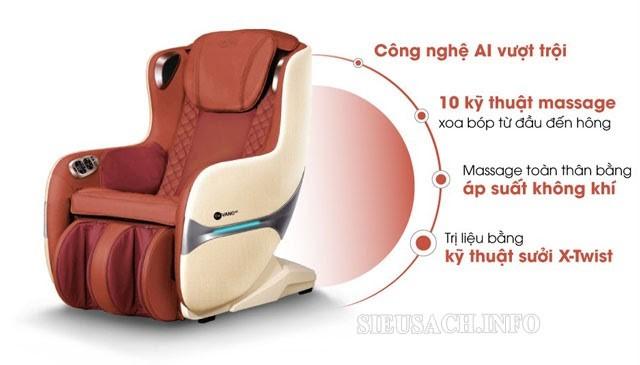 Gintell ghế massage sở hữu nhiều ưu điểm vượt trội