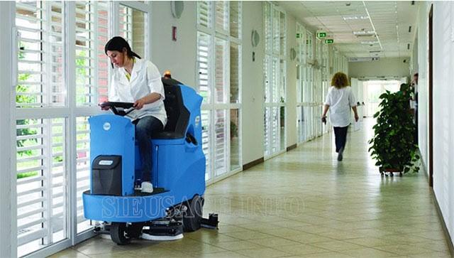 Máy chà sàn liên hợp được ứng dụng phổ biến ở nhiều nơi