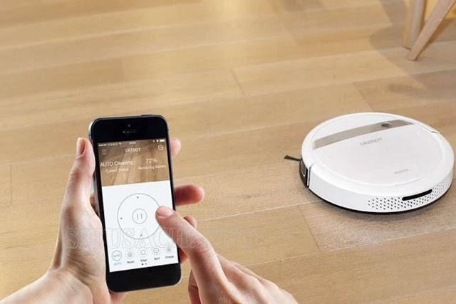 Robot hút bụi có thể điều khiển và giám sát bằng smartphone