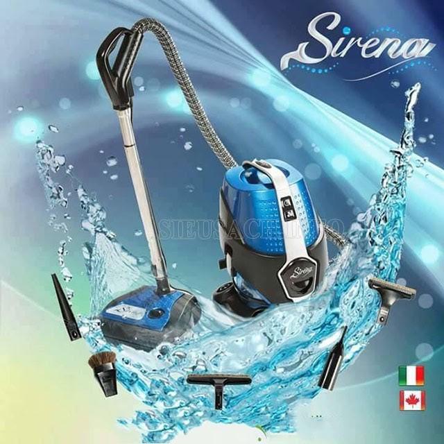 Sirena có khả năng hút nước nhanh chóng
