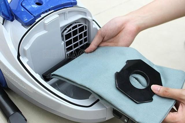 Túi chứa bụi dễ dàng vệ sinh và thay mới