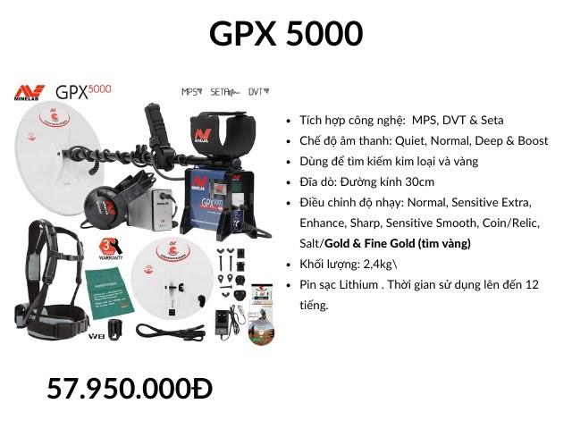 Thông số kỹ thuật máy kiểm tra quặng vàng GPX 5000