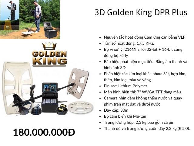 Thông số kỹ thuật thiết bị tìm vàng 3D Golden King DPR Plus