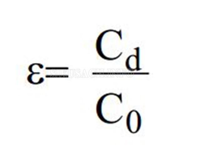 Công thức của hằng số điện môi