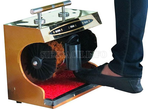 Cách dùng máy đánh giầy