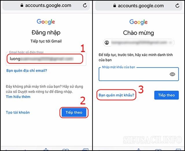 Hướng dẫn cách lấy lại mật khẩu Gmail bằng số điện thoại