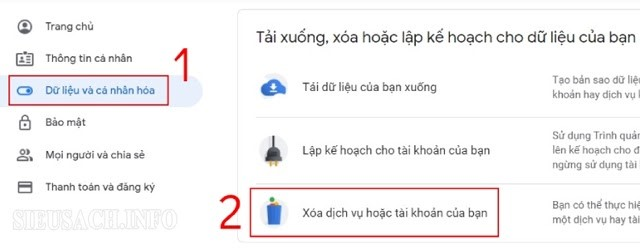 Làm sao để xóa tài khoản Gmail trên máy tính?