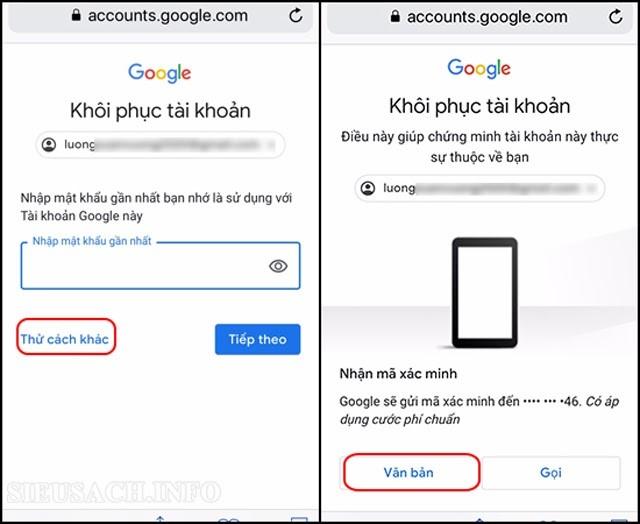 Làm sao lấy lại mật khẩu Gmail bằng số điện thoại?