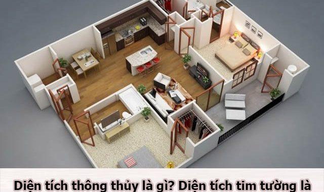 Tìm hiểu diện tích thông thủy và tim tường trong đo diện tích căn hộ