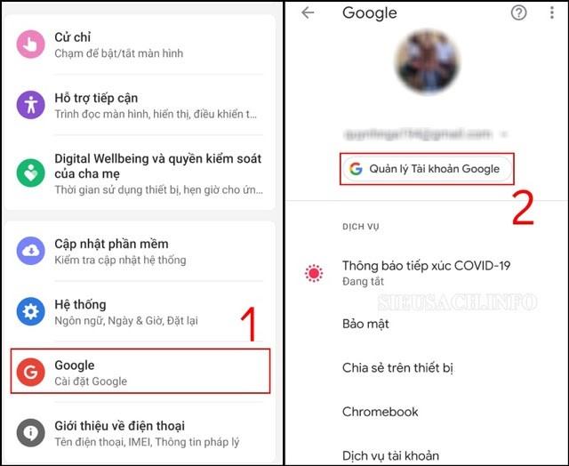 Tiến hành xóa tài khoản Gmail trên Iphone