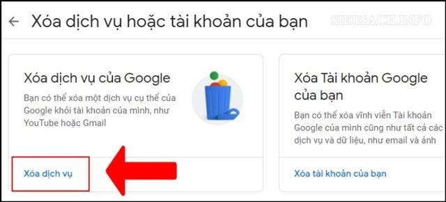 Xóa tài khoản Gmail chỉ với một vài thủ thuật đơn giản