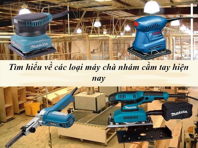Máy chà nhám đã trở thành thiết bị không thể thiếu trong sản xuất đồ gỗ