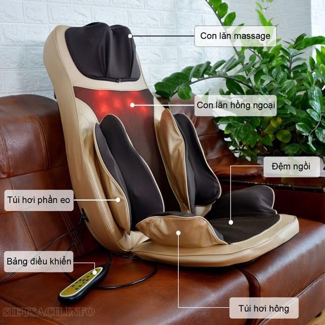 Tiện lợi, tiết kiệm với ghế đệm massage Fuji