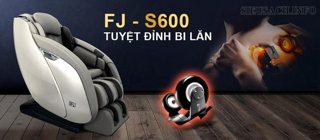 Xua tan căng thẳng, mệt mỏi với ghế massage FJ S600