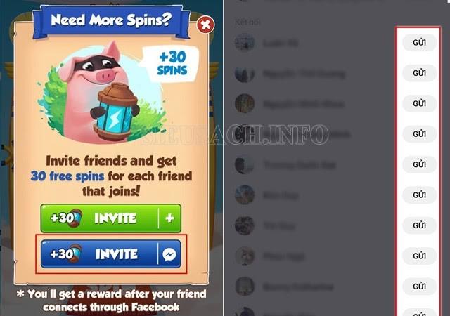 Cách chạy spin coin master trên Facebook