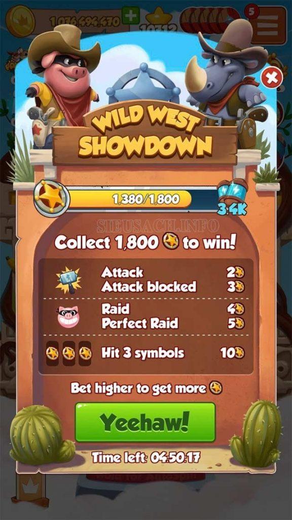 Tham gia các sự kiện trong game Coin Master để nhận lượt quay