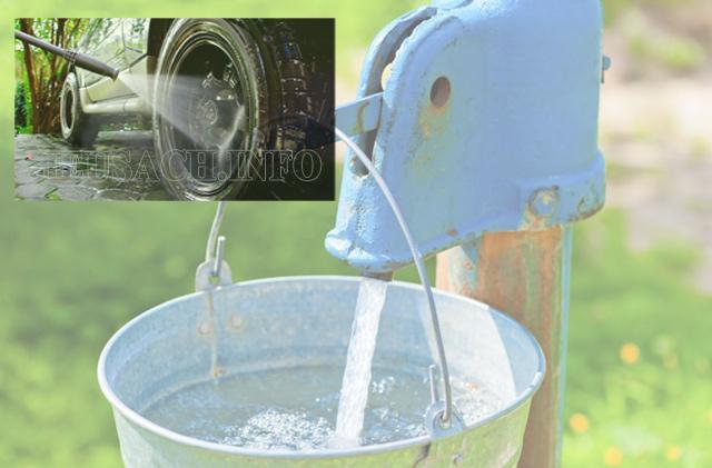Nước giếng khoan được bơm trực tiếp mà không qua xử lý